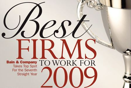 <a href=&quot;http://www.consultingmag-digital.com/consultingmag/20090910#pg16&quot;>2009 Best Firms To Work For</a>